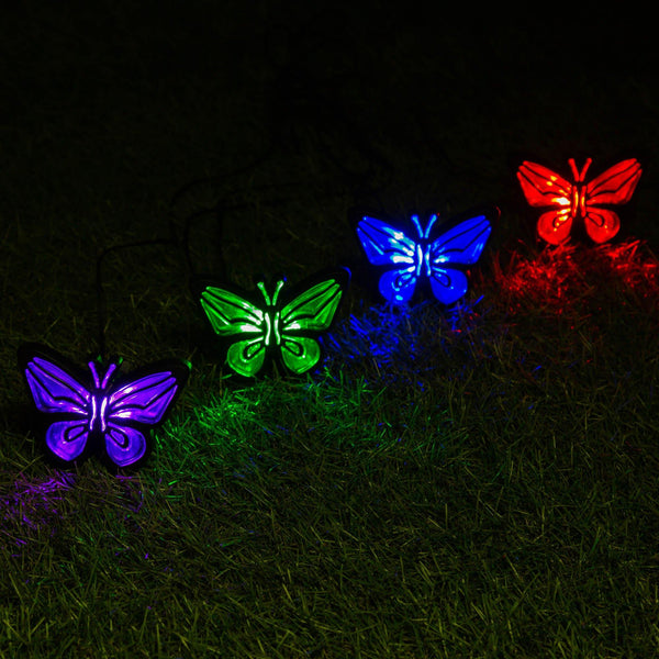 Butterfly Solar Ground Lights Set