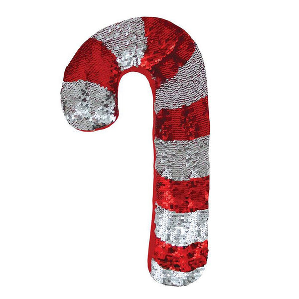 Candy Cane Reversible Sequin Pillow