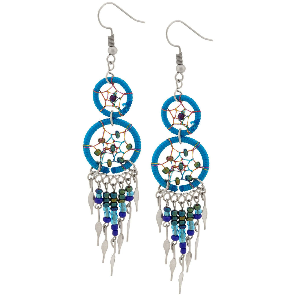 Double Dreamcatcher Dazzling Earrings