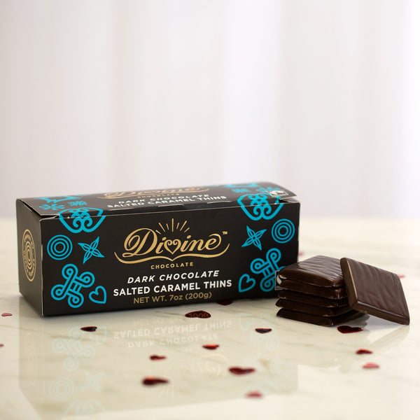 Divine™ Dark Chocolate Salted Caramel Thins
