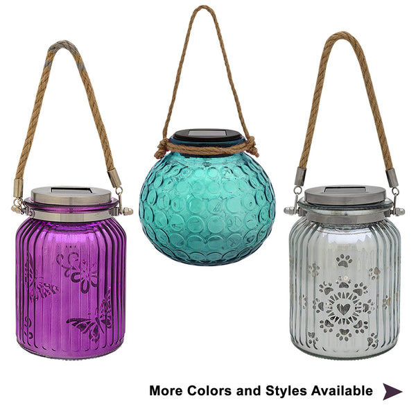 Frosted Glass Solar Lanterns