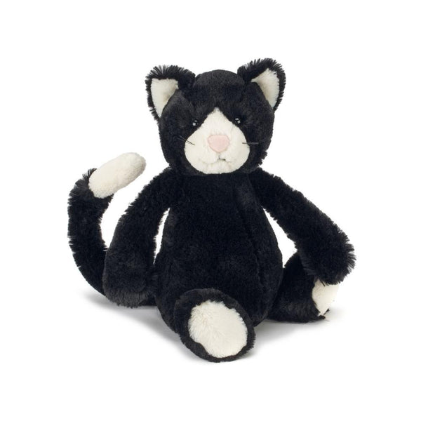 Bashful Black & White Kitten Toy