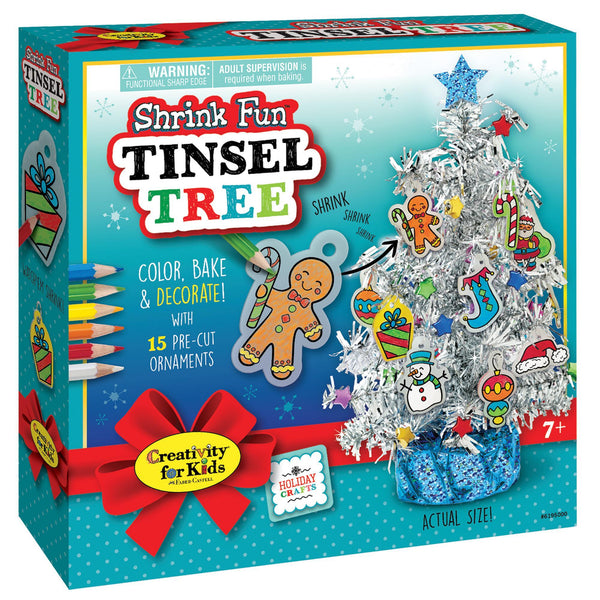 Shrink Fun Tinsel Tree