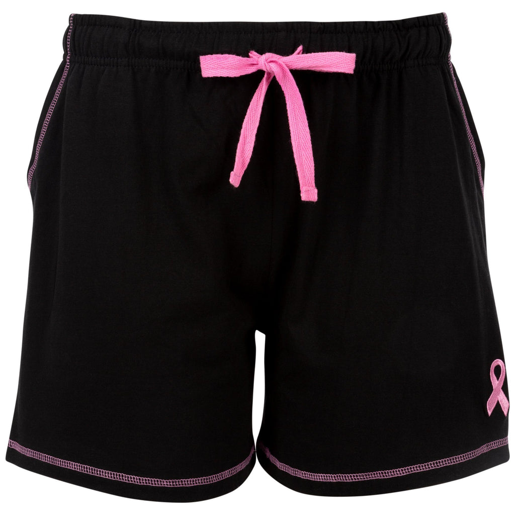 Pink Ribbon Contrast Casual Shorts