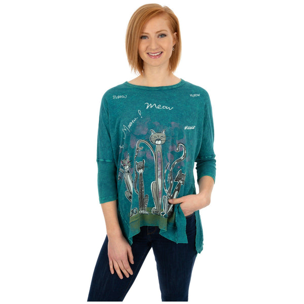 Singing Cats Dolman Top