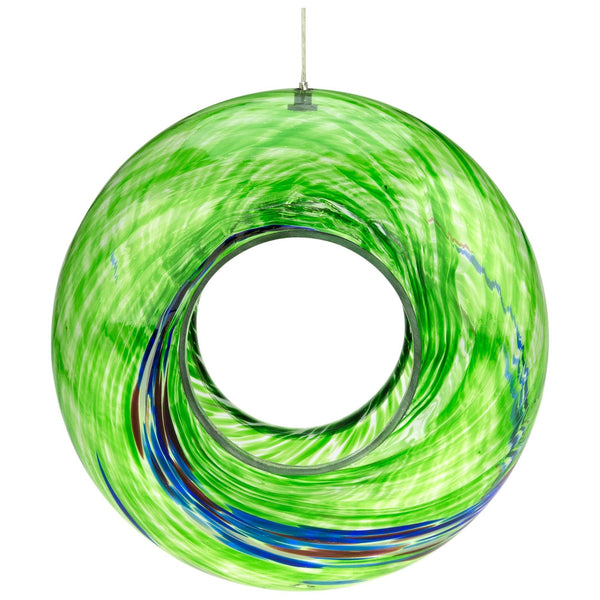 Ocean Swirl Glass Bird Feeder