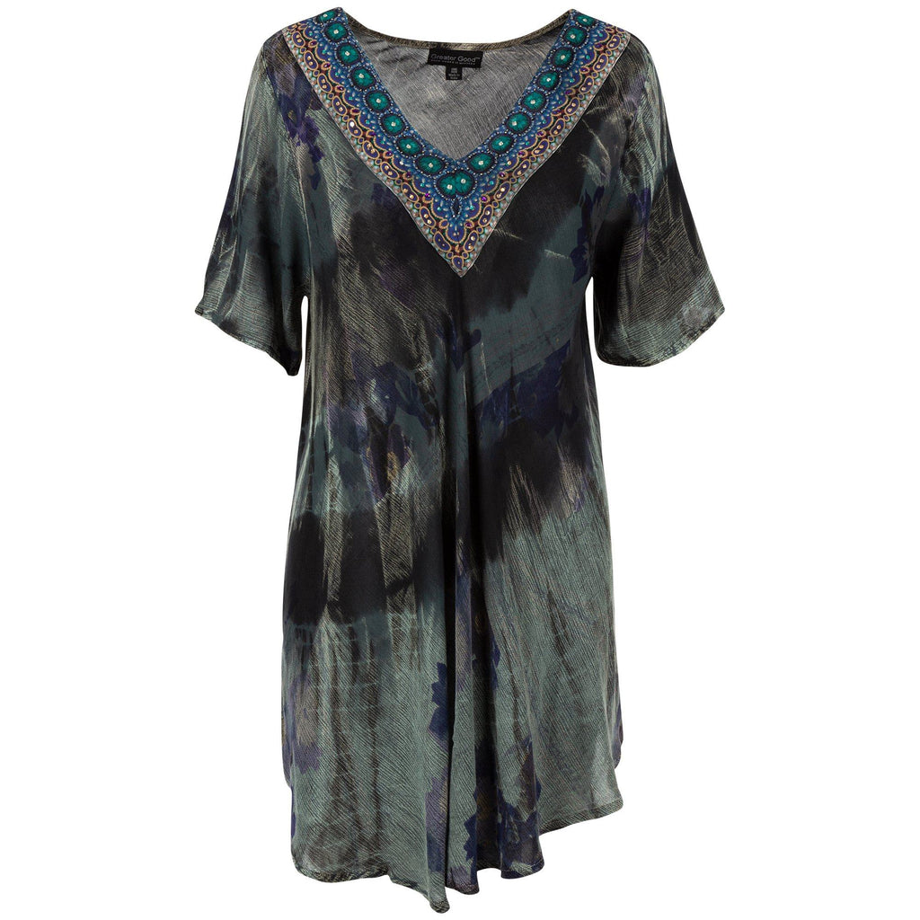 Beaded Beauty Short Sleeve Tunic