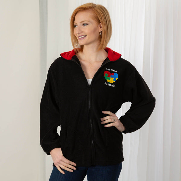 Love Needs No Words Autism Fleece Jacket