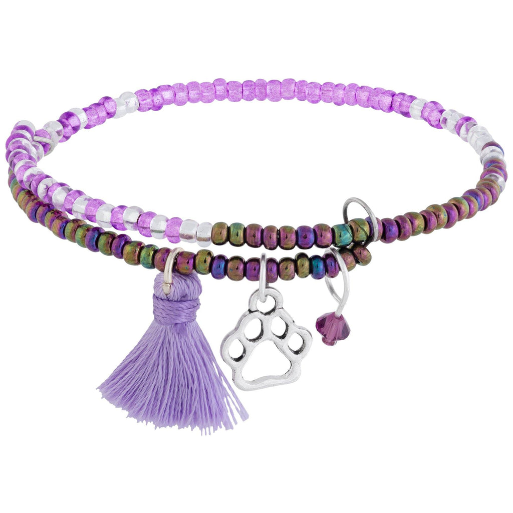 Promo - PROMO - Beaded Paw Print Adjustable Bracelet
