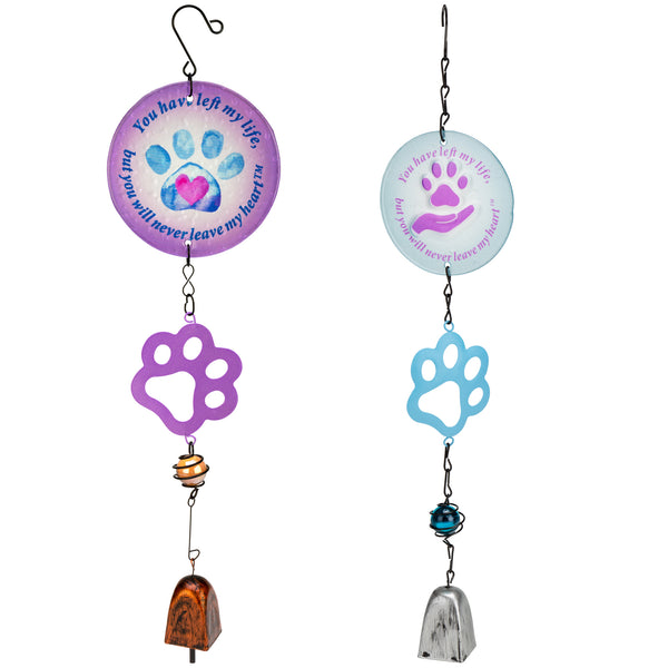 Purple Paw Pet Memorial Wind Chime