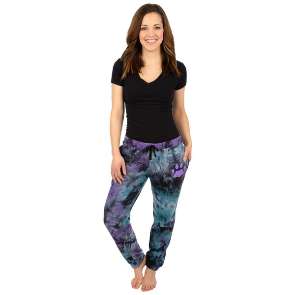 Tie-Dye Purple Paw Sweatpants