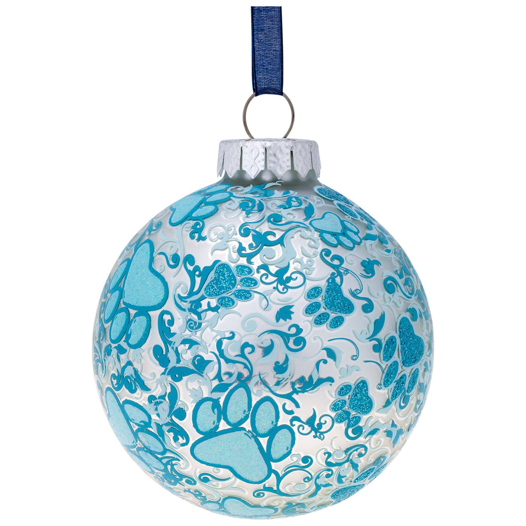 Frosty Blue Paws Ornament