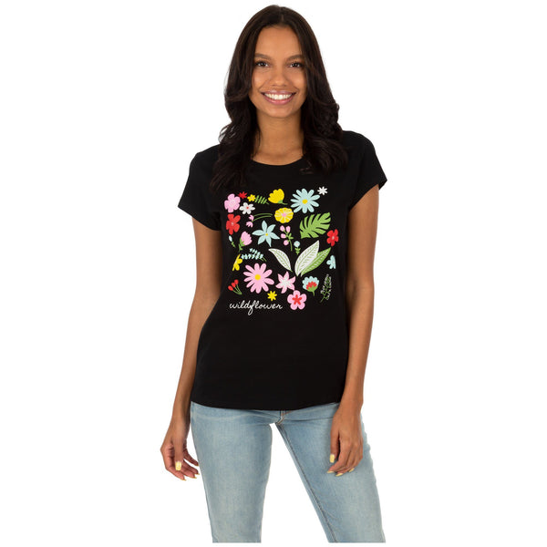 Wildflower Scoop Neck Tee