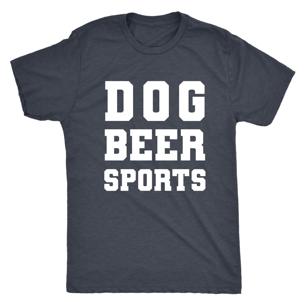 T-shirt - Dog Beer Sports Men's Triblend T-Shirt