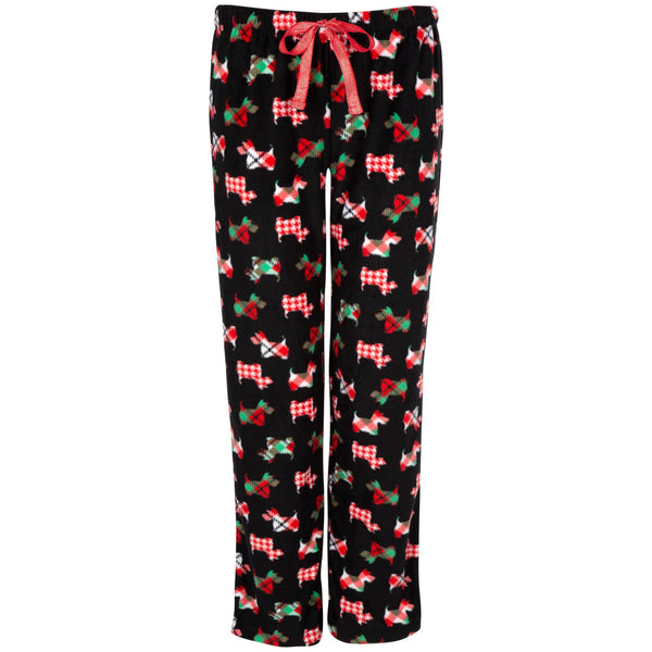 Scottie Dog Fleece Pajama Pants