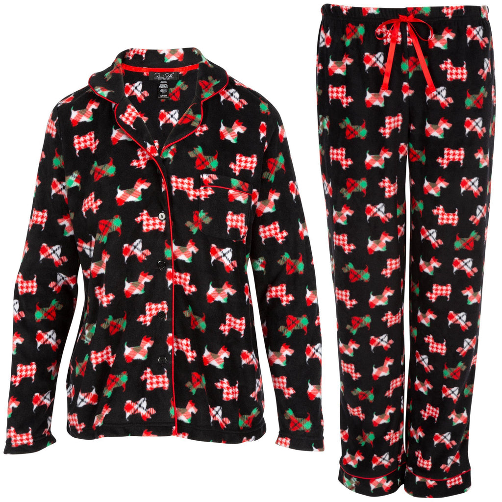 Scottie Dog Fleece Pajama Set