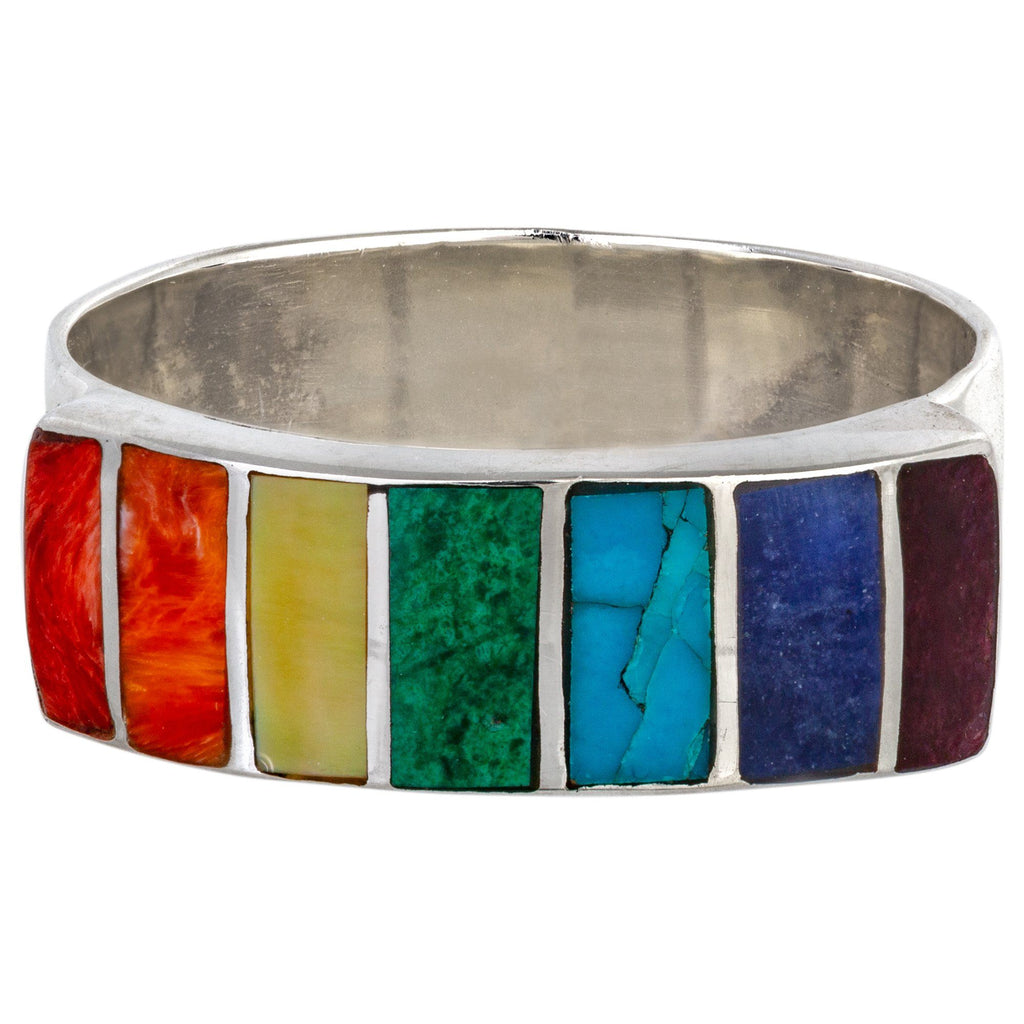Sterling Gemstone Rainbow Ring