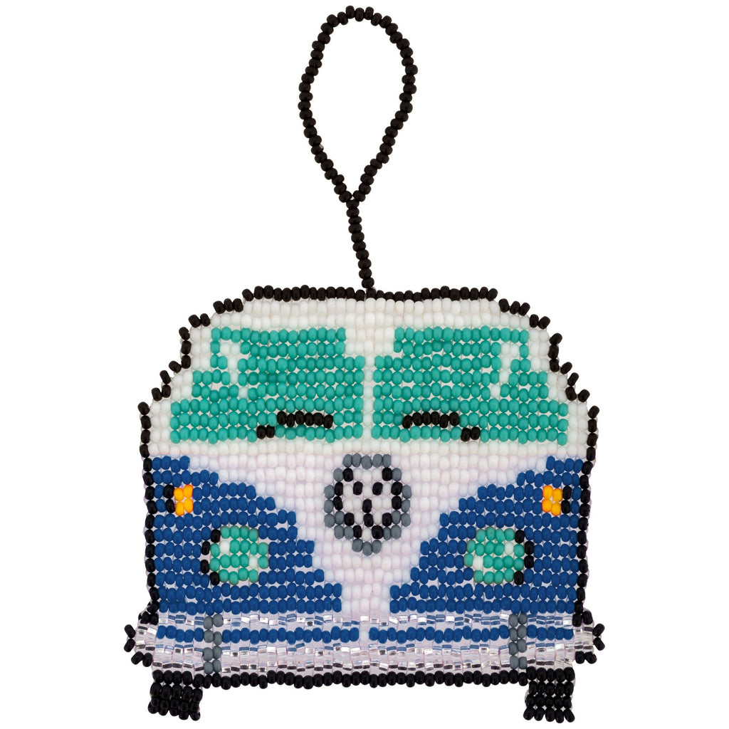 Hippie Van Beaded Ornament