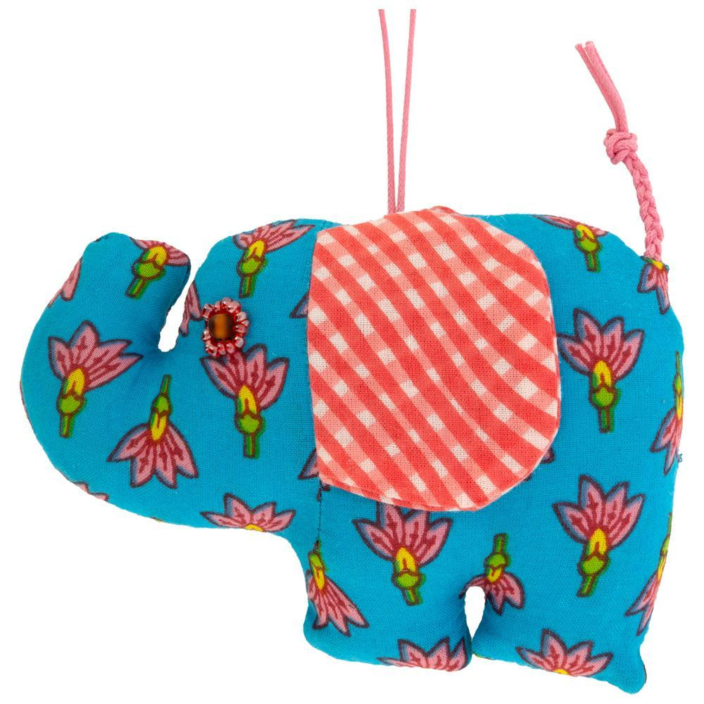 Floral Ellie Elephant Ornament