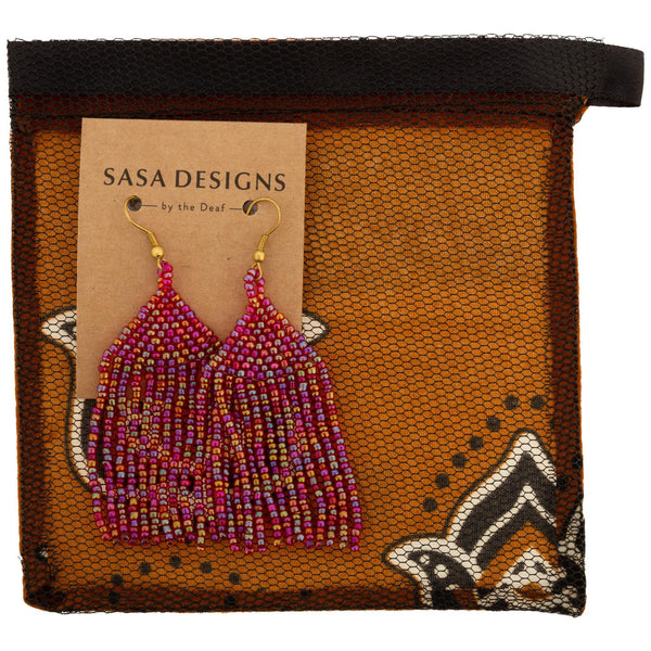 Brilliant Fringe Beaded Earrings