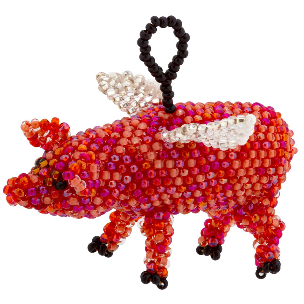 When Pigs Fly Beaded Ornament