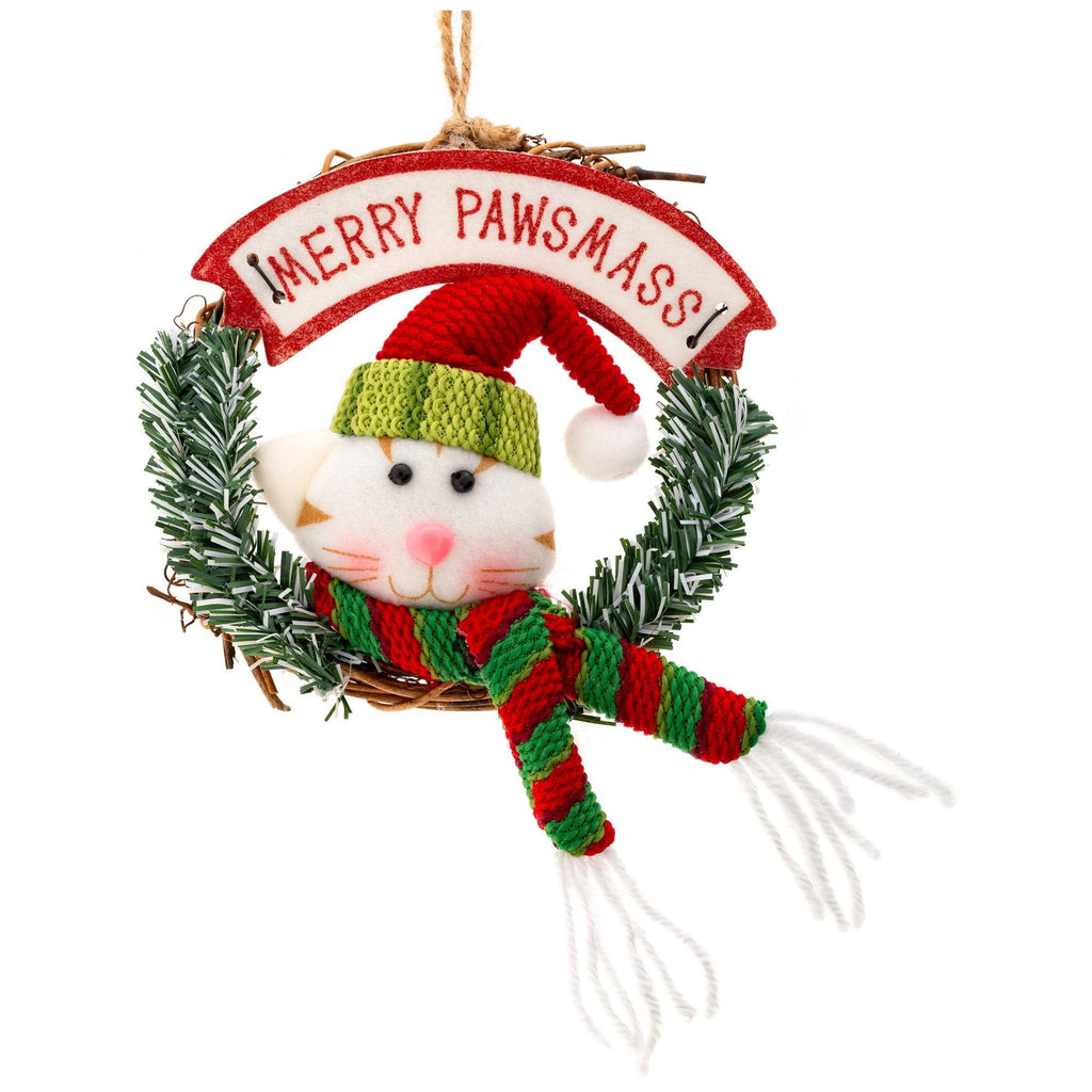 Merry Pawsmass Wreath Ornament