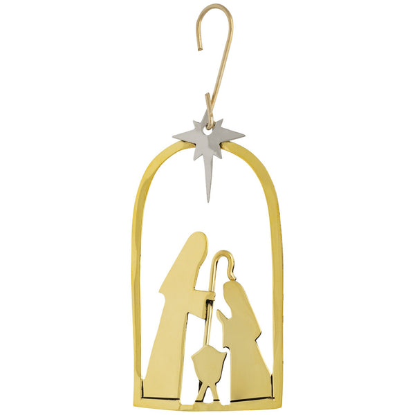 Nativity Mixed Metal Ornament