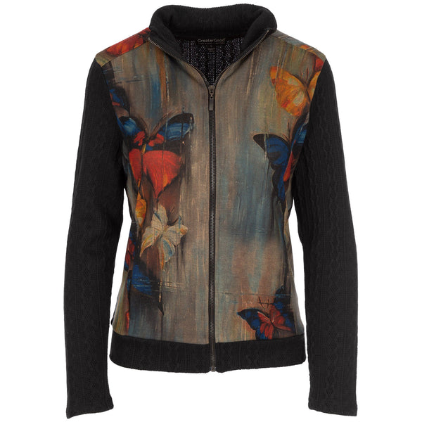Butterflies In The Shade Zip Up Jacket