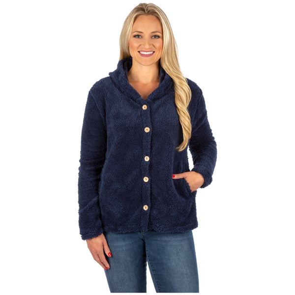 Babbling Brook Fleece Button Up Hoodie