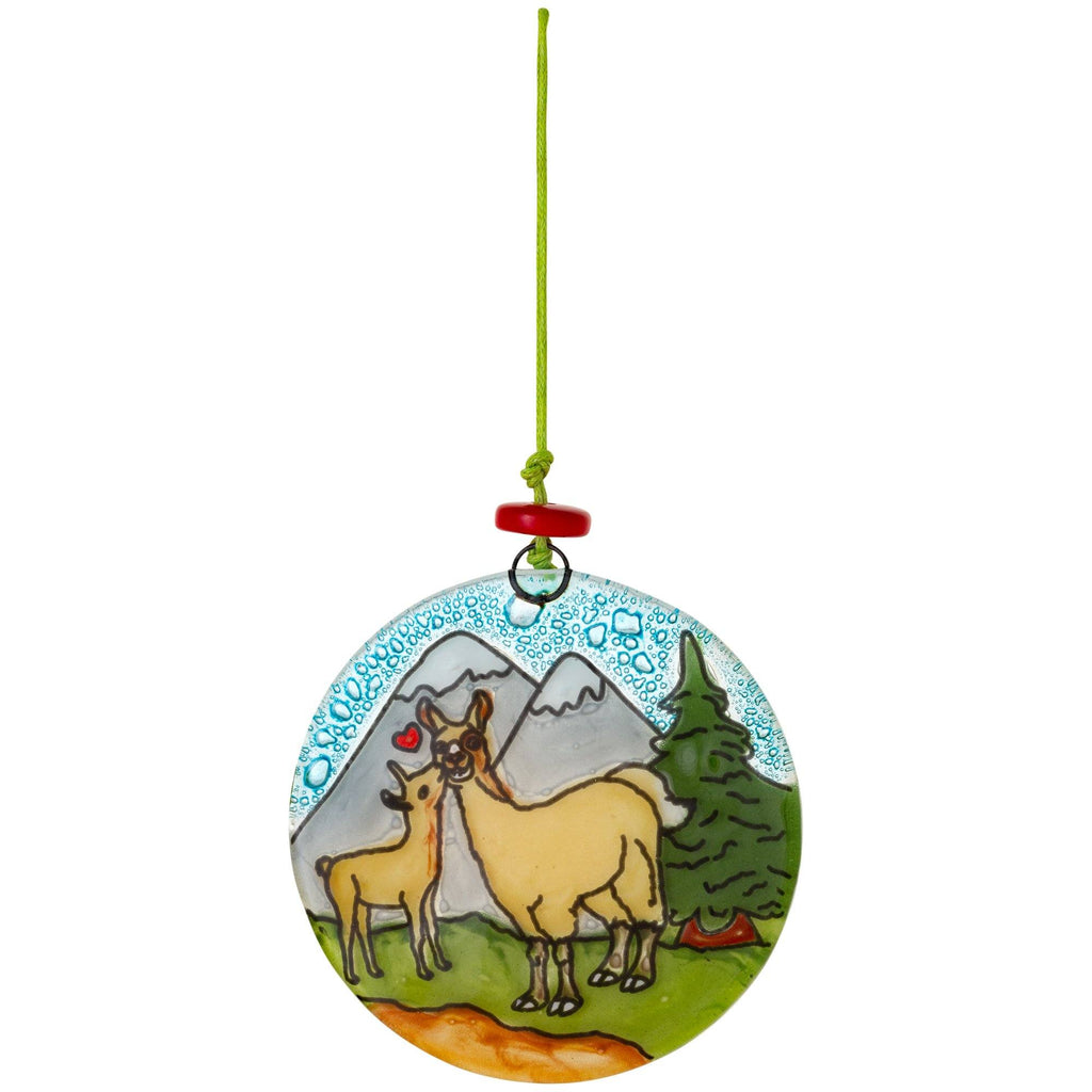 Painted Wildlife Recycled Glass Ornament