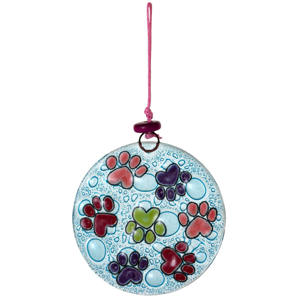 Whiskers & Paws Recycled Glass Ornament