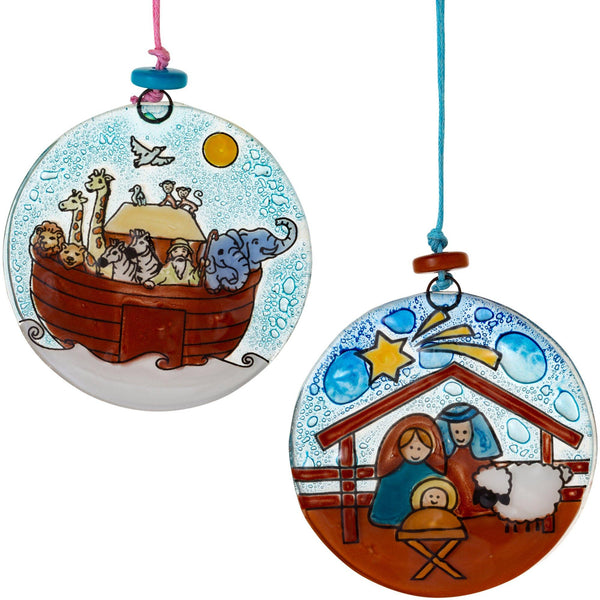 Bible Story Recycled Glass Ornament