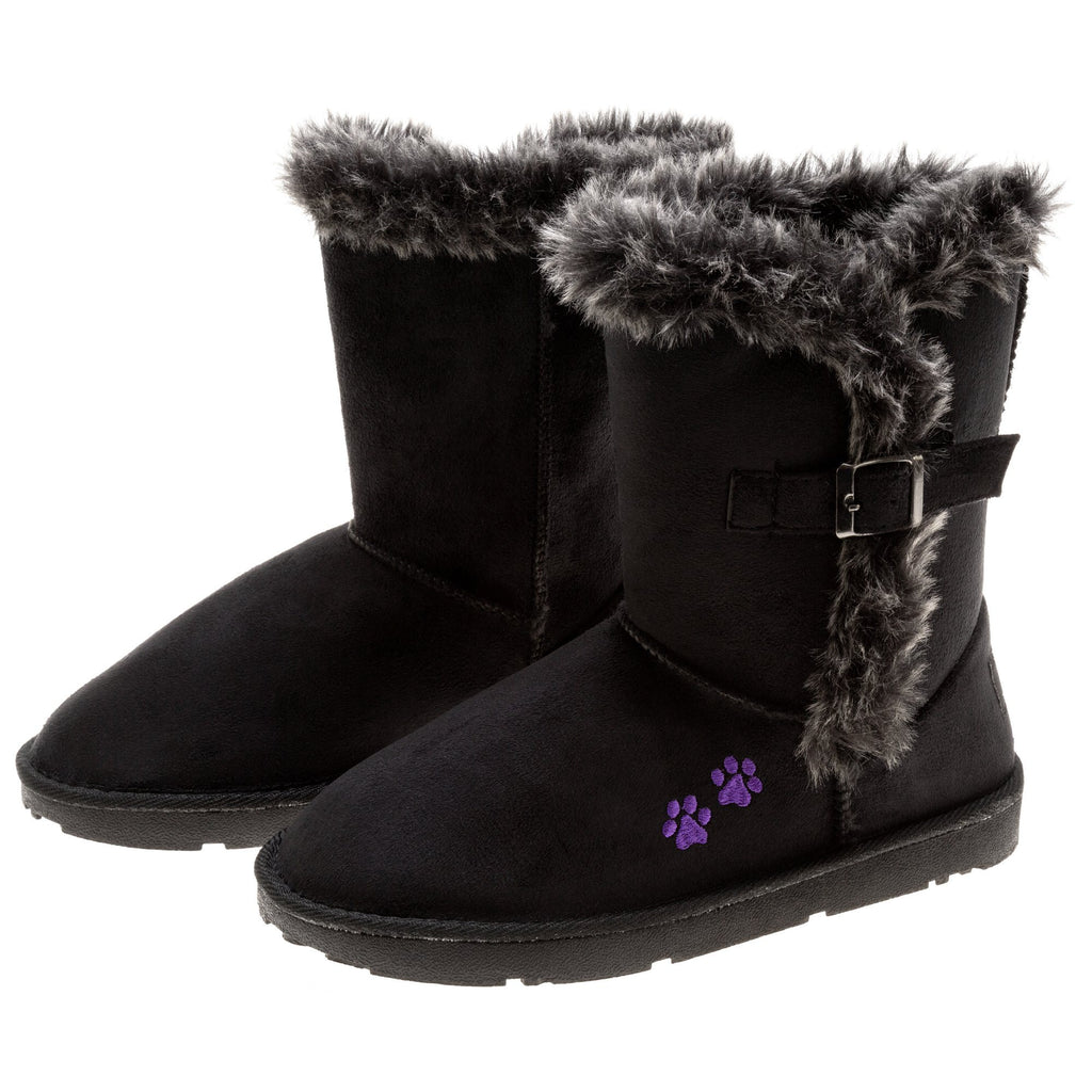 Purple Paw Classic Buckle Boot