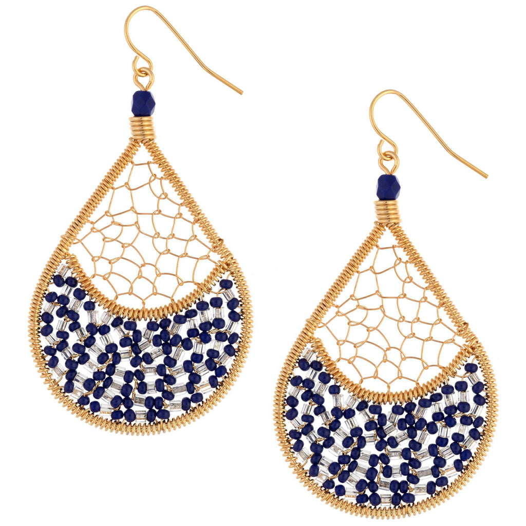 Threads & Beads Gold-Plated Earrings