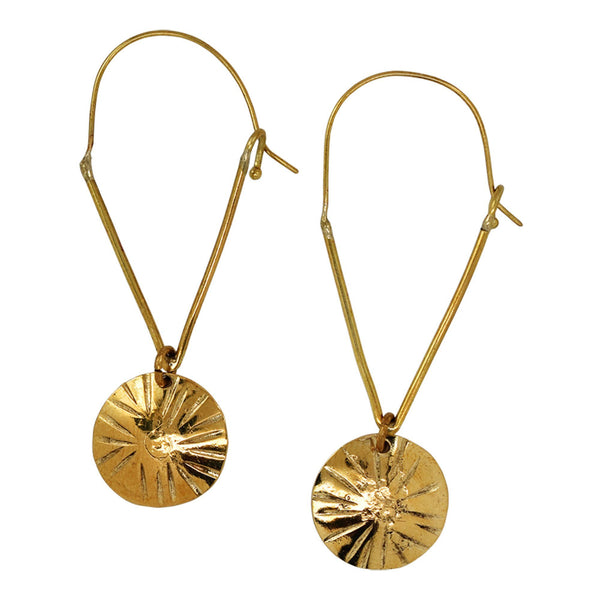 Four Corners Brass Earrings