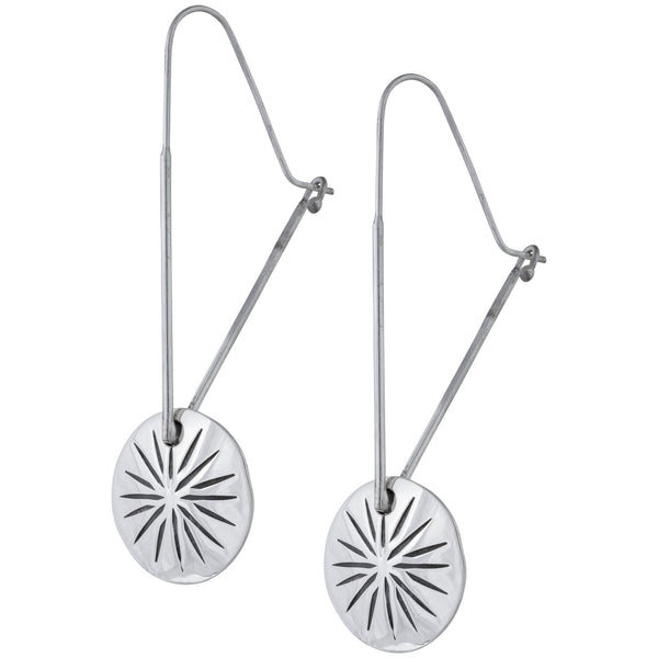 Four Corners Sterling Silver Earrings