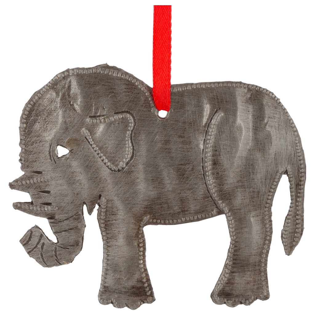 Elephant Recycled Oil Drum Ornament