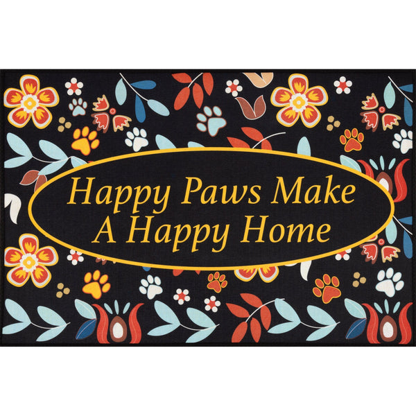 Happy Paws Door Mat