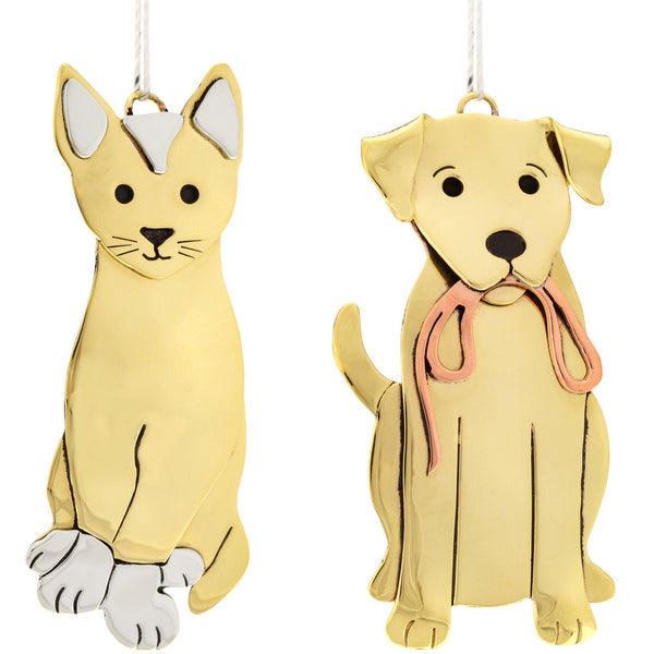 Cute Pets Mixed Metal Ornament