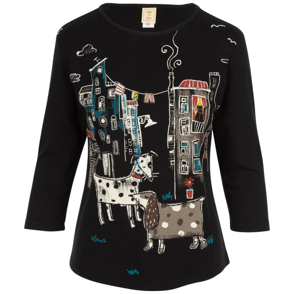 City Pups 3/4 Sleeve Top