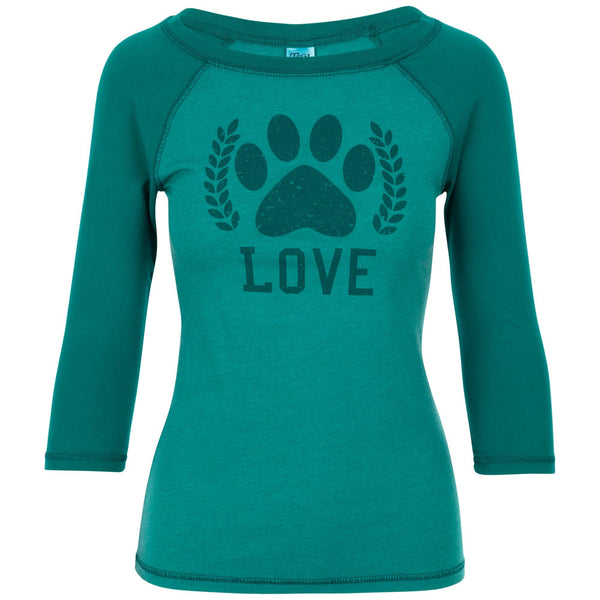 Paw Love Two-Toned Baseball Tee
