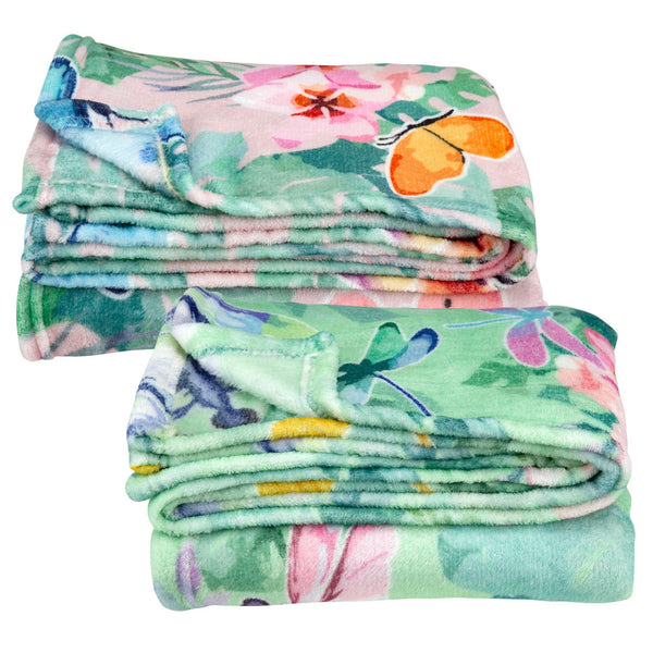 Super Cozy™ Watercolor Garden Friends Throw Blanket