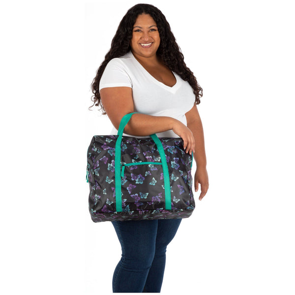 Promo - PROMO - Ombre Butterflies Packable Duffel Bag