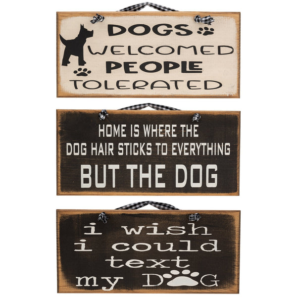 Dog Lover Wood Accent Sign