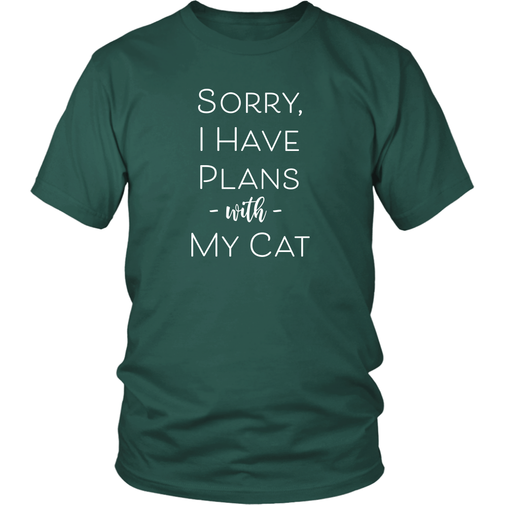 T-shirt - Sorry I Have Plans With My Cat T-Shirt