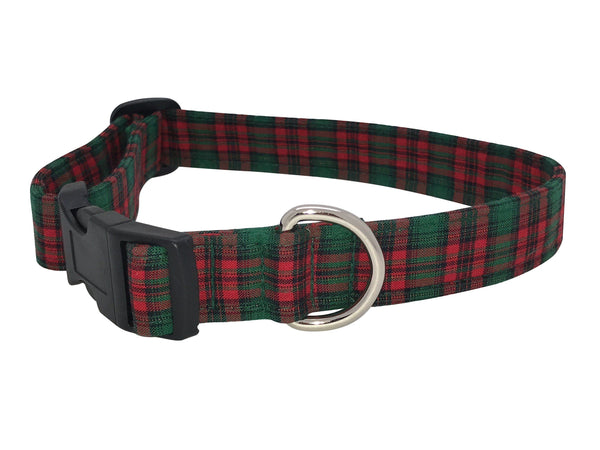 Elmo's Closet - Metallic Plaid Dog Collar