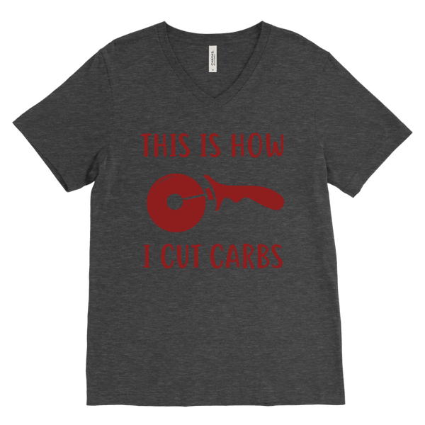 T-shirt - How I Cut Carbs V-Neck T-Shirt