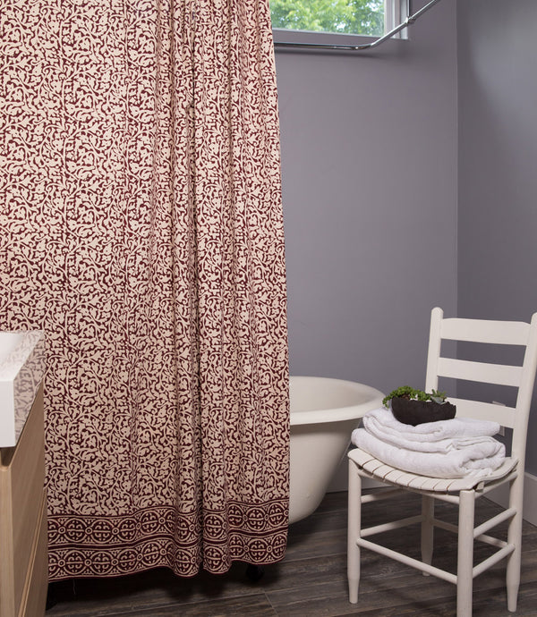 Chain Pattern Batik Shower Curtain