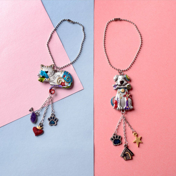 Kitty & Dog Car Charm