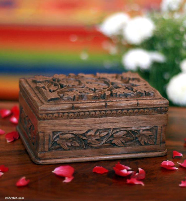 NOVICA - Walnut Forever Jewelry Box